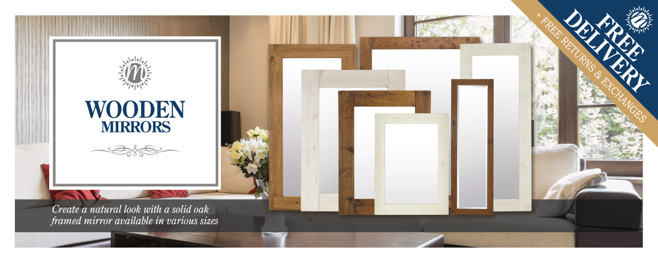 Wooden Mirrors | Wood Framed Mirrors | Mirror Outlet
