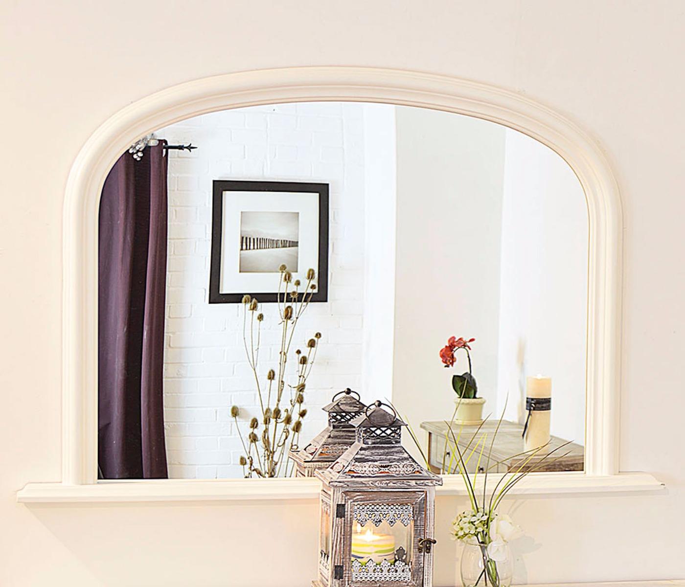 large white over mantle big overmantle wall mirror new 4ft x 2ft7 120cm x 79cm 5060301519972 ebay. Black Bedroom Furniture Sets. Home Design Ideas