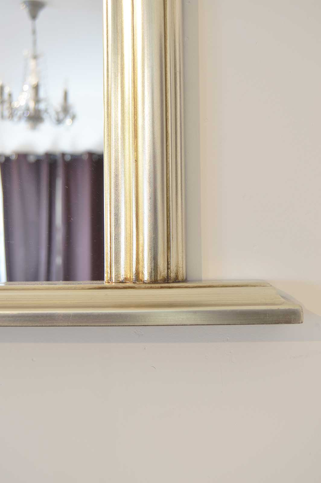 Large Silver Over Mantle Big Overmantle Big Wall Mirror