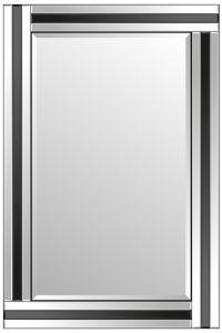 Dalton Black All Glass Mirror 90 x 60 CM