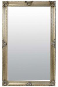 Debussy Vintage Silver Antique Design Large Leaner Mirror 244 x 152 CM