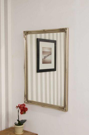 Fraser Silver Beaded Dress Mirror 102 x 72 CM