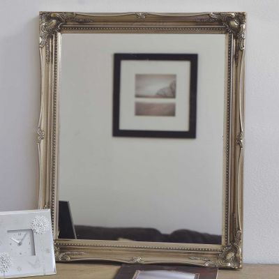Fraser Silver Small Beaded Mirror 61 x 51 CM