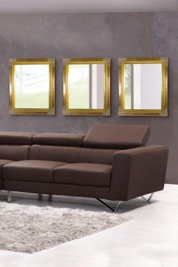 Litchfield Dark Gold Elegant Classic Wall Mirror 2ft6X2ft2 760mmX660mm