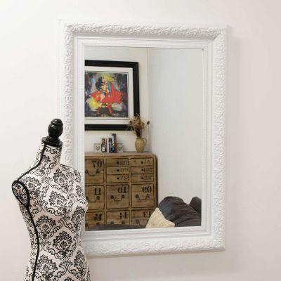 Hartwell White Wall Mirror 117 x 87 CM