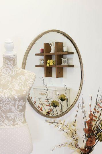 Rowan Silver Elegant Modern Bevelled Round Mirror 80 x 80 CM