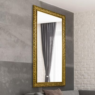 Lancaster Gold Extra Large Ornate  Leaner/Wall hanging Mirror. 169cm X 76cm