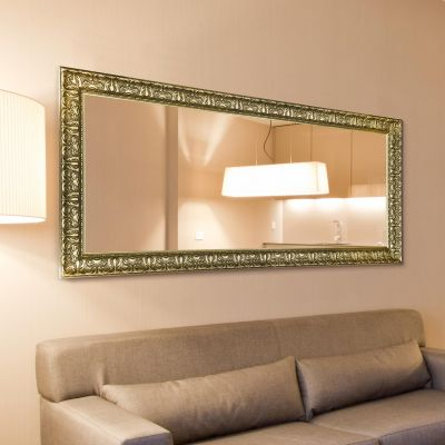 Lancaster Champagne Silver Large Ornate Leaner/Wall hanging Mirror 169cm x 76cm