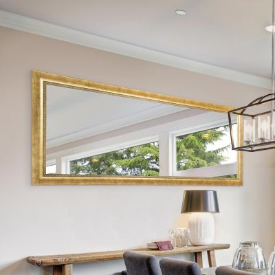 Lancaster Antique Gold Extra Large Wall hanging Mirror. 166cm X 74cm. New