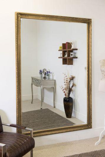 Fenton Vintage Gold Antique Design Large Leaner Mirror 6ft7 x 4ft7 200 x 140 CM