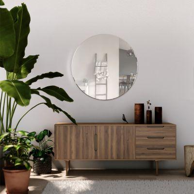 All Glass Bevelled Classic Design Round Mirror 60 x 60CM