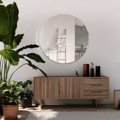 All Glass Bevelled Classic Design Round Mirror 80 x 80CM