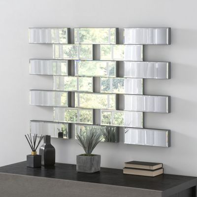 UK Made Multi Segment Brick Effect Venetian Mirror 102 x 71 CM 3ft4 x 2ft4