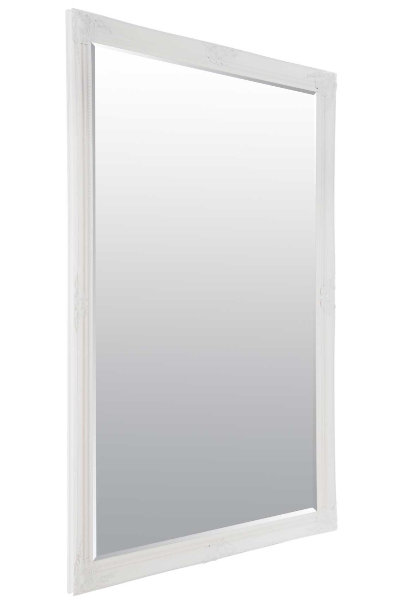 Extra Large White Full Length Antique Bevelled Wall Mirror