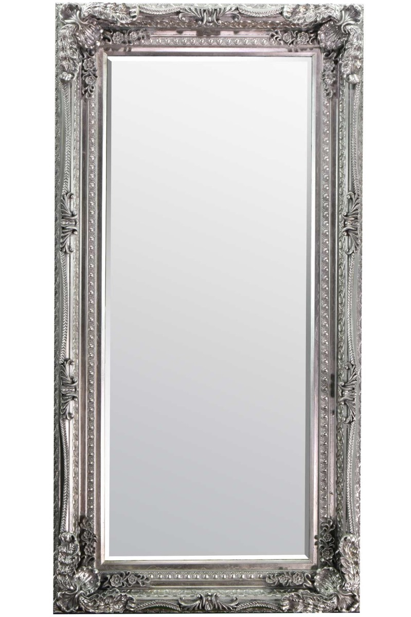 Large Silver Antique Style Wall Mirror New Rectangle 5ft9