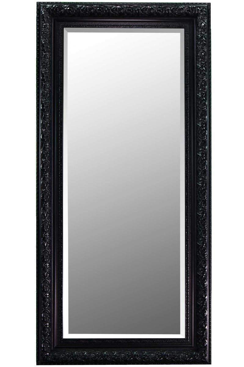 Bevelled Elegant Hand Made Large Black Ornate Mirror 5ft10