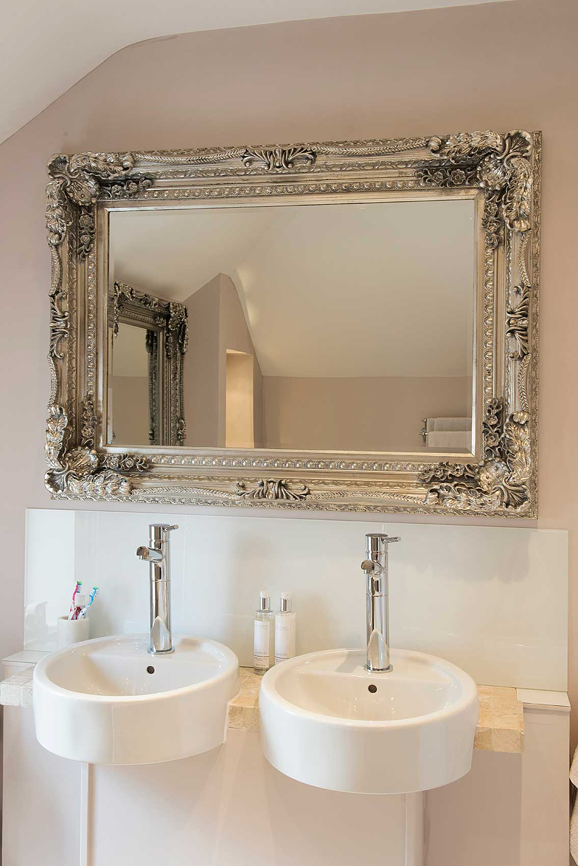 Large Silver Shabby Chic Large Ornate Wall Mirror 4ft X 3ft 120cm X 90cm New 5055781825408 Ebay
