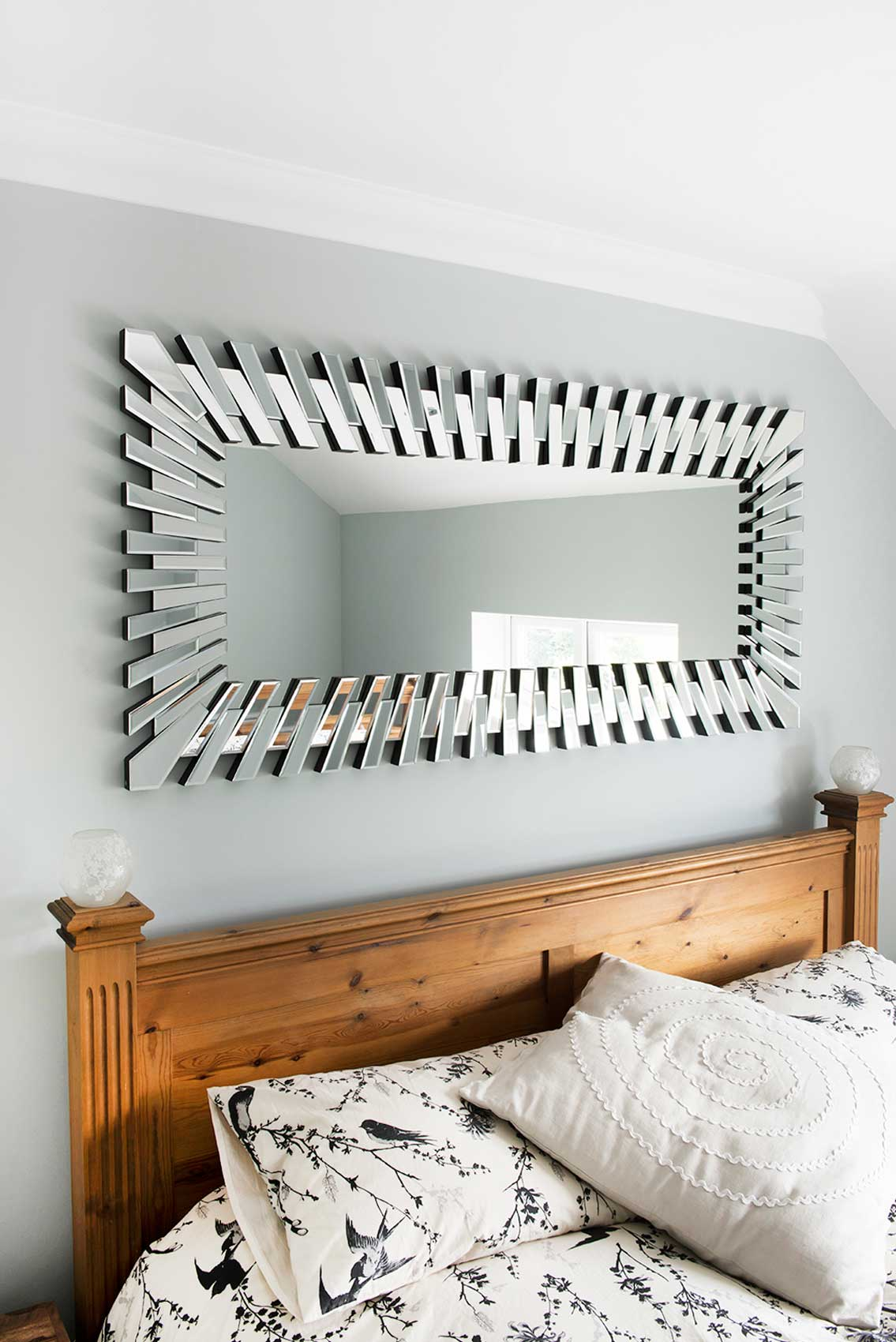 Extra Large Modern Unique 3d Sunburst All Glass Venetian Rectangular Wall Mirror 5055781824869 Ebay