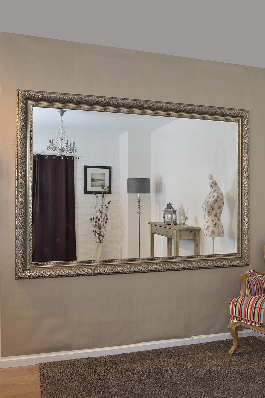Large Silver Ornate Decorative Big Wall Mirror 6ft10 X