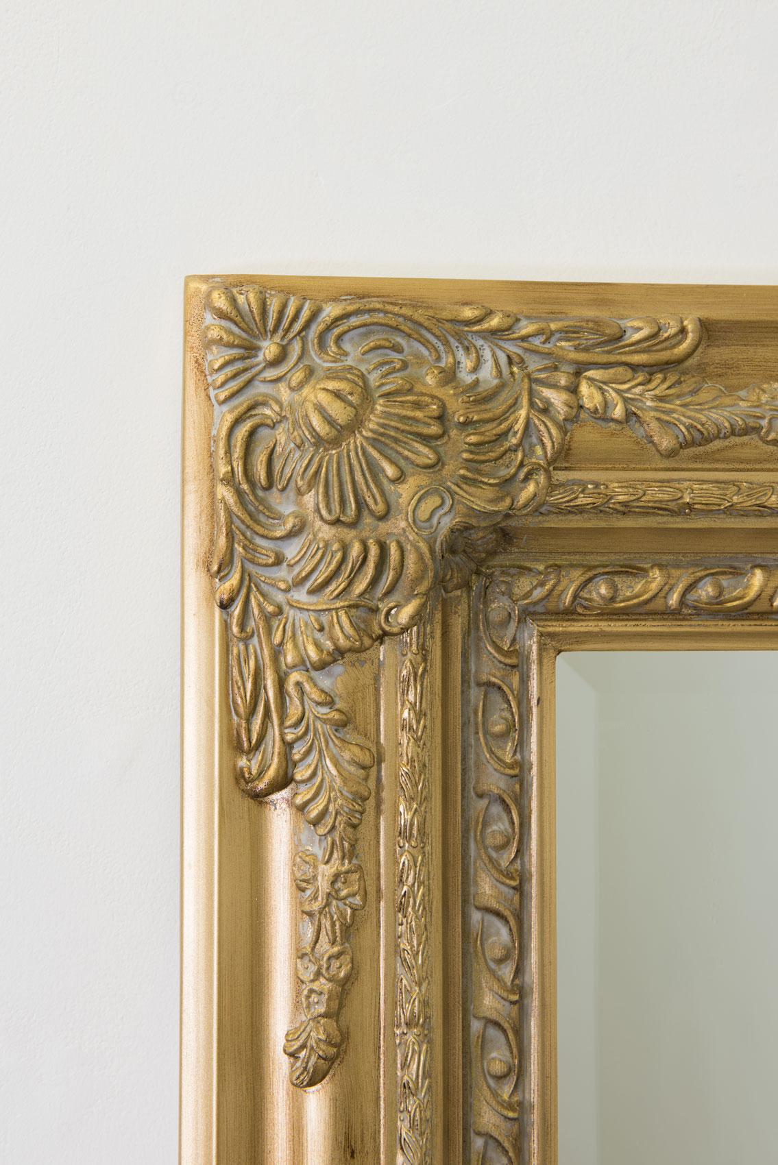 Large gold antique style wall mirror wood 5ft10 x 2ft10 for Antique style wall mirror