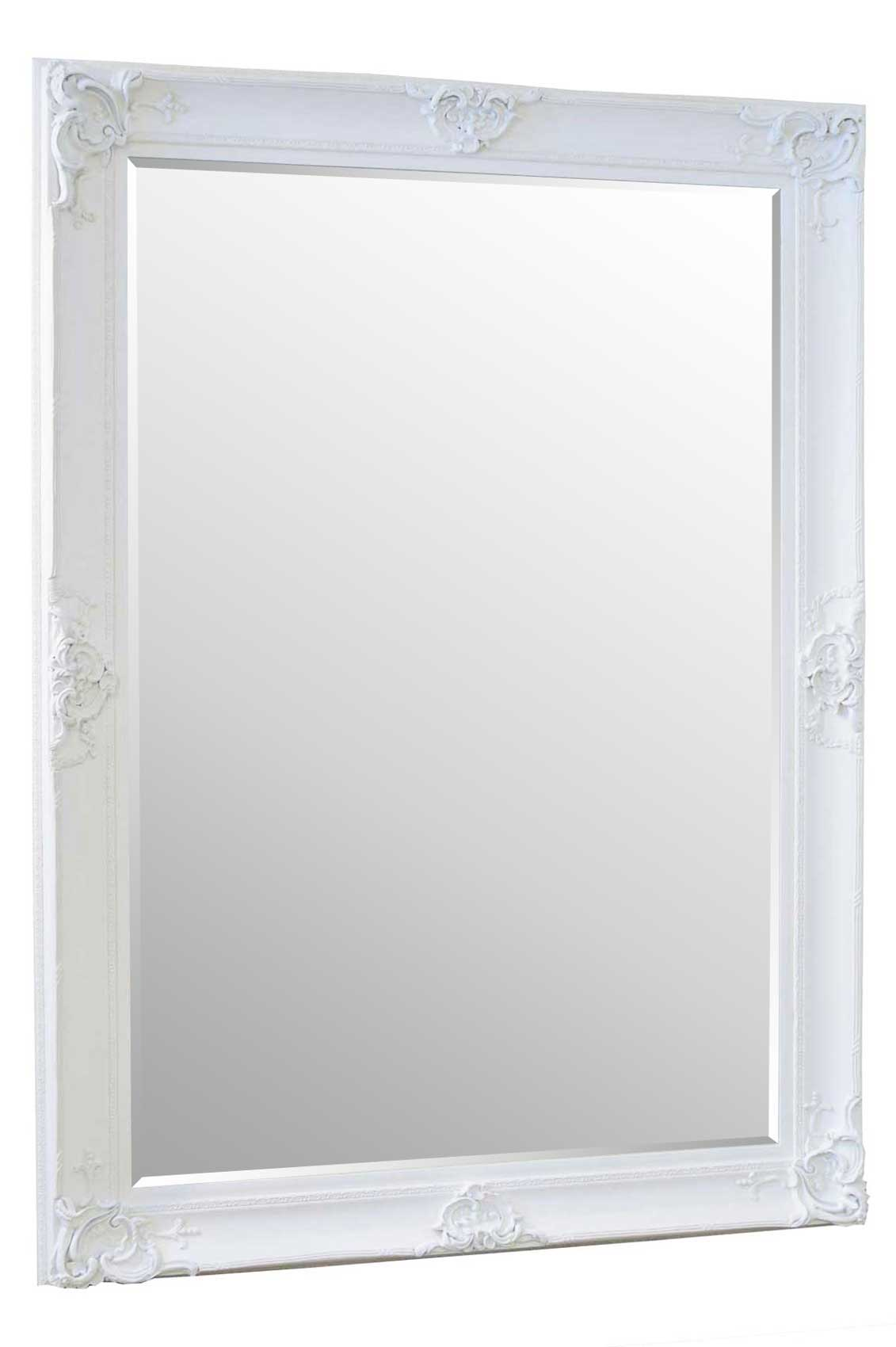 Beautiful Large White Decorative Ornate Wall Mirror 7ft X