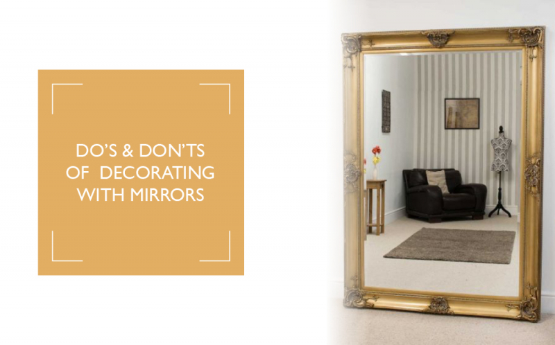 Do's and don'ts of decorating with mirrors